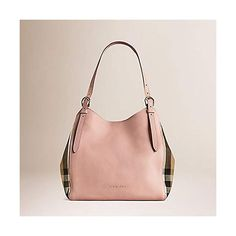 0d254a235503 Tote Bag Handbag Authentic Burberry Small Canter in Leather and House Pale  Orchid color Made in Italy