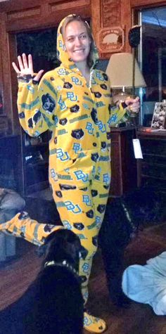 Baylor footie pajamas = #BaylorProud goals.