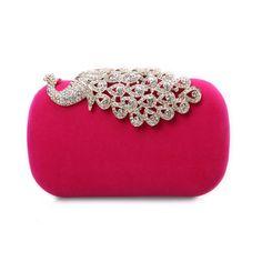 2014 Hot Sale Diamond Peacock Design Women Handbags, Four Colors Available -- USD $ 36.99