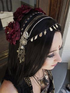 Tribal bellydance hair accessory