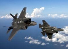 Lockheed F-35 Lightnings. Awesome.