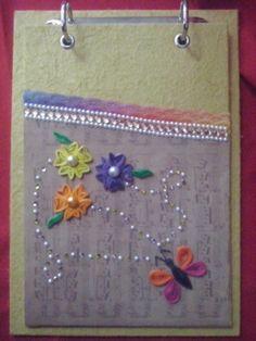 Bloquinho de papel artesanal quilling 2