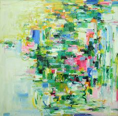 April -  abstract oil painting   Like, Repin, Share!  Thanks!