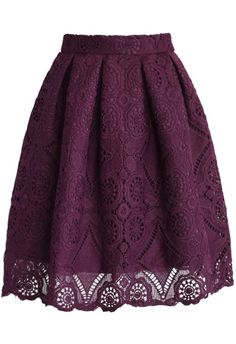 Collect it for your full chic look! Free shipping&easy return! This lace skirt with lining is best for your winter look!Collect it at Cupshe.com