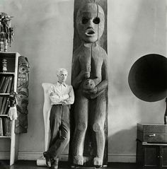 Max Ernst at the home of Peggy Guggenheim, New York, Fall 1942 Munich City Museum Archives, Hermann Landshoff (via: altertuemliches.at). With thank to artemisdreaming.