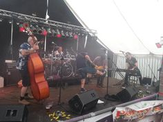 Playing guitar with Porky's Hot Rockin' at Titchest 2015. #Titchfest #worstead #rockabilly #rocknroll #boogie #piano