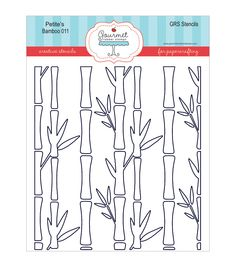 Gourmet Rubber Stamps Petite Stencils-Bamboo