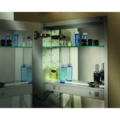 Providing The Convenience Of Electrical Outlets In A Mirrored Cabinet To  Enhance Your Grooming Experience And Storage Of Electronic Accessories. Our  Option