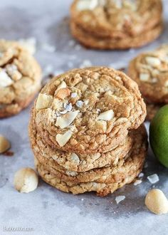 Tropical Cookies (with White Chocolate, Macadamia Nuts, Lime Zest   Toasted Coconut)