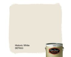 Dunn-Edwards Paints paint color: Historic White DET653   Click for a free color sample #DunnEdwards