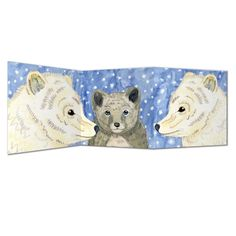 arctic fox card - Perkins and Morley Shop Arctic Animals, Arctic Fox, Triptych, Folded Cards, Pet Birds, Christmas Cards, Fine Art, Art Prints, Range