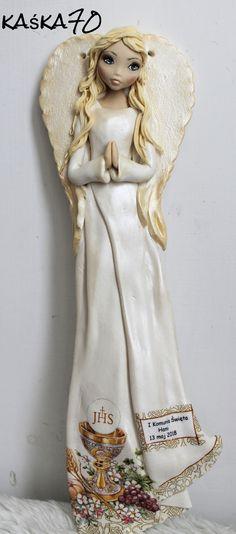 #anioł,  #zimna porcelana, #angel, , Komunia święta Princess Zelda, Disney Princess, Disney Characters, Fictional Characters, Ceramics, Angels, Parenting, Homemade, Dolls