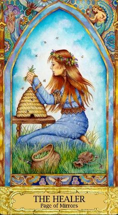 #Tarot - The Healer (Page of Cups)   Youthful | Sensible   Good morning Tarot Hotties! The Healer, when you meet her, will impress you with her practical demeanor. She likely will appear at a time when you need a strong, supportive shoulder. She'll inspire you to collect honey from the many blossoms of your experiences – honey to become the mystical balm of healing.  If you're reading this it's for you. #ChrysalisTarot #TarotReadings #TarotLove #Inspirations #Intuition #Divination…