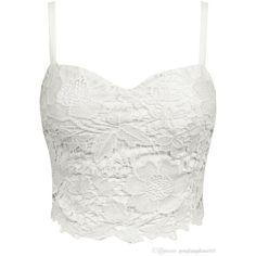 c662ee275e3 0 Lace Bralette Top, Bustier Top, White Lace Crop Top, Lace Crop Tops