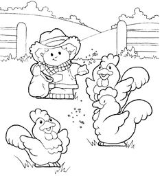 chicken coloring pages for preschoolers - photo#37