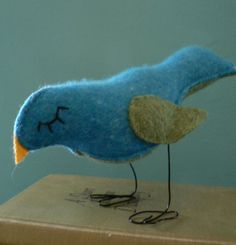 recycled sweater blue bird