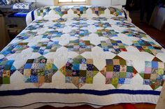Amish Patchwork Quilt Front View