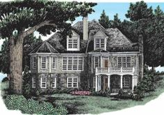 Westhampton - Home Plans and House Plans by Frank Betz Associates #westhampton #homeplans #frankbetz  #floorplans #capecod