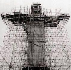 Construction of Christ The Redeemer Statue in Rio de Janeiro, Brazil 1926 - 1931