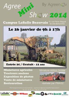 Agree mini show : Exposition de modèles réduits agricoles. Le dimanche 26 janvier 2014 à beauvais.