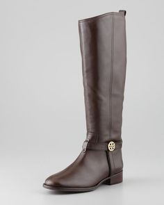 Tory Burch - Bristol Leather Riding Boot, Coconut