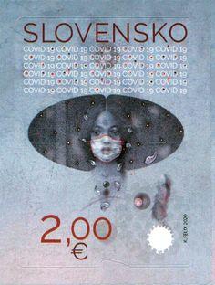 Slovakia COVID-19 postimerkki