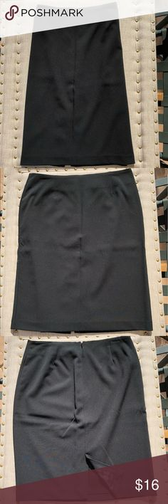 "Classic black skirt Classic black skirt with 6"" back slit. 23"" in length Hillard & Hanson Skirts Pencil"