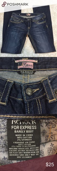 e66f3aea10e Rerock for Express SZ 6 Barely Boot Jeans Rerock for Express SZ 6 Barely  Boot Jeans