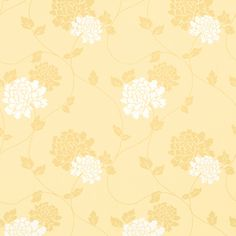 Isodore Camomile Yellow Floral Wallpaper