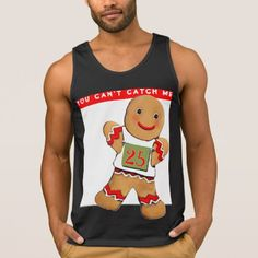 funny running Christmas Tank Top - party gifts gift ideas diy customize