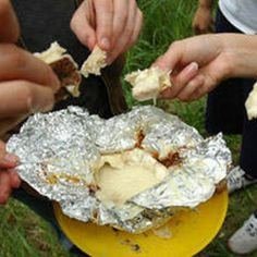 Recipes For Your Campfire - Boozy Campfire Cheese