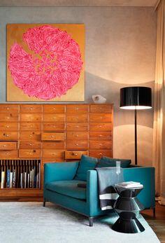 Le fauteuil bleu canard pour une touche couleur vintage