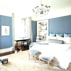 Blue gray bedroom paint light blue and gray bedroom gray bedroom with blue accents bedroom blue accent wall bedroom ideas blue and grey bedroom paint ideas Dark Blue Bedroom Walls, Royal Blue Bedrooms, Grey Bedroom Paint, Light Grey Walls, Blue Rooms, Light Blue, Baby Bedroom, White Bedroom, Light Orange