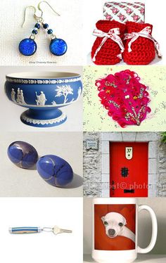 hot red cool blues by Ali B on Etsy--Pinned with TreasuryPin.com #integritytt #etsyspecialt