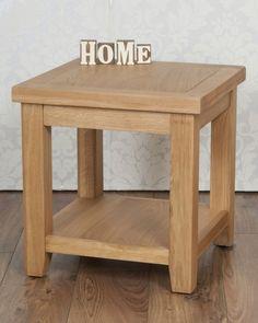 Chunky Solid Oak Harrogate Natural Bedside Lamp Side Table in Home, Furniture & DIY, Furniture, Tables   eBay