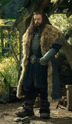 When I see this picture, I can't help but remember Richard saying that he wanted Thorin to look a bit like a bison.  Mission accomplished.