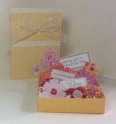 Matchbox pop up flower card created by Julie Hickey using fabulous Matchbox Pop Up Flower Card kit.