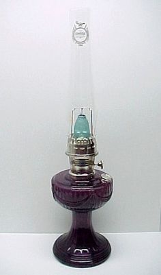 84 best aladdin kerosene oil lamps and parts images on pinterest amethyst glass lincoln drape kerosene oil lamp genuine aladdin brand transparent amethyst purple glass aloadofball Image collections