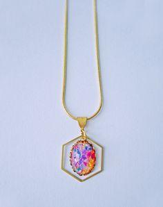 Herschel Vintage Fire Opal Necklace — Eclectic Eccentricity Vintage Jewellery