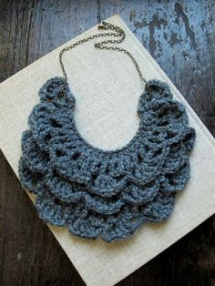 crochet necklace bib necklace crochet jewelry von acommonthread, $45,00
