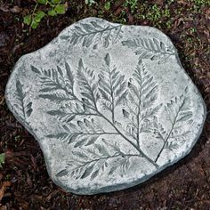 Campania International Fossil Fern Stepping Stone - Garden Decor at Hayneedle