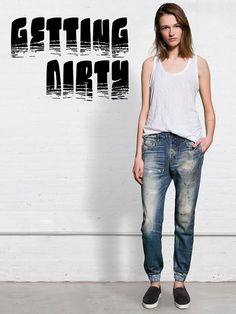 If you love dirty denim, why not check out this round up of the hottest dirty jeans out right now? http://thejeansblog.com/denim-roundups/dirty-denim-the-trend/