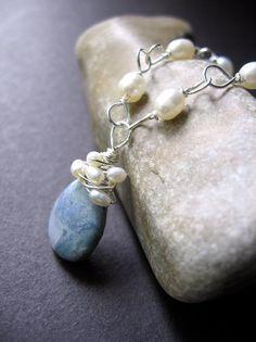 I like blue & pearls together.