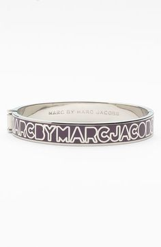 MARC BY MARC JACOBS Skinny Logo Bangle available at #Nordstrom