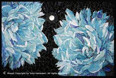 """""""Queens of the Night"""" - Stained Glass Mosaic - 16"""" x 20"""" - mosaicsphere.com"""