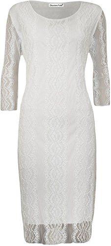 New Womens Plus Size Gorgeous 3/4 Sleeve Floral Lace Knee Length Party Dress ( White, M ) Xclusive Collection http://www.amazon.com/dp/B00KT3V9XK/ref=cm_sw_r_pi_dp_KItzvb1CE2T3R