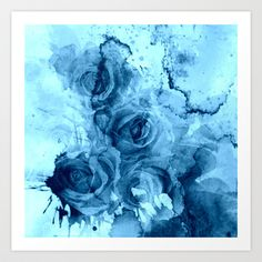 "Art Print / SMALL (13"" x 13"") clemm (clemm) roses"
