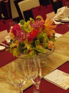 会場装花 おまかせで、和の装花 目黒雅叙園様へ