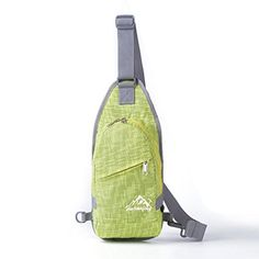 CreazyDog Durable Nylon Small Chest Bag Outdoor Travel Sport Shoulder Bag Sling Backpack Green ** Continue to the product at the image link. (This is an affiliate link) #CampingHikingBackpacks