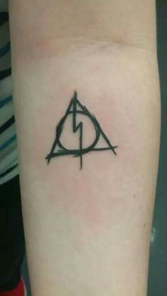 Deathly hallows lightening bolt.
